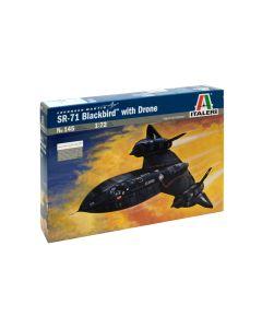 Plastbyggesett, italeri-145-sr-71-blackbird-with-drone-scale-1-72, ITA0145