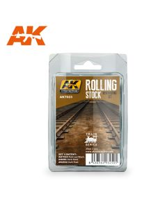 AK Interaktive, aki-interactive-7023-rolling-stock-weathering-set-train-series, AKI7023