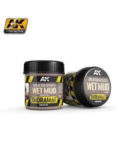 AK Interaktive, ak-interactive-8026-splatter-effects-wet-mud-diorama-series-100-ml, AKI8026