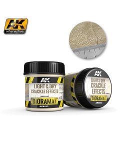 AK Interaktive, ak-interactive-8033-light-and-dry-crackle-effects-diorama-series-100-ml, AKI8033