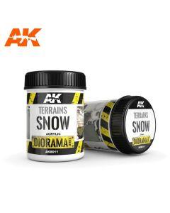 AK Interaktive, ak-interactive-8011-diorama-series-terrains-snow-acrylic-250-ml, AKI8011