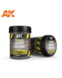 AKI8017, ak-interactive-8017-diorama-series-terrains-muddy-ground-acrylic-250-ml