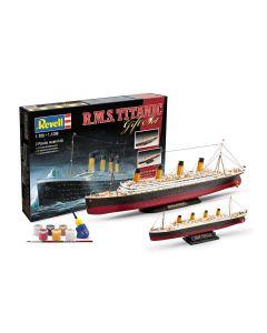 Plastbyggesett, revell-05727-rms-titanic-gift-set-scale-1-700-1-1200, REV05727