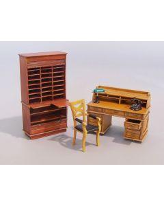 Plastbyggesett, Office furniture 1/35, PLM163