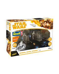 Plastbyggesett, revell-06768-star-wars-imperial-patrol-speeder-han-solo-scale-1-28, REV06768