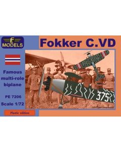 Plastbyggesett, lf-models-pe7206-fokker-c-vd-norwegian-version-scale-1-72, LFMPE7206