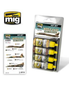 Mig Akrylmaling, ammo-by-mig-jimenez-7217-middle-east-air-forces-acrylic-paint-set, MIG7217