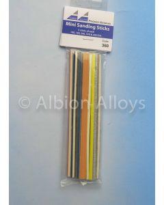 Verktøy, albion-alloys-360-mini-sanding-sticks-assorted-pack, ALB360
