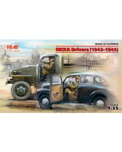 Plastbyggesett, RKKA Drivers (1943-1945) (2 figures) 1/35, ICM35643