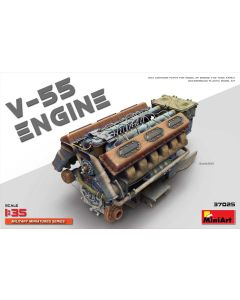 Plastbyggesett, miniart-37025-v-55-engine-scale-1-35, MIA37025
