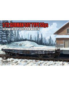 Plastbyggesett, t-model-3704-german-50-ton-railway-wagon-ssys-scale-1-72, MCUA72190