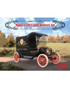 Plastbyggesett, icm-24008-model-t-1912-light-delivery-car-scale-1-24, ICM24008