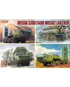 Plastbyggesett, modelcollect-ua72173-russian-s300-s400-missile-launcher-4-in-1-scale-1-72, MCUA72173