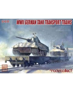 Plastbyggesett, modelcollect-72158-wwii-german-tank-transport-trains-scale-1-72, MCUA72158