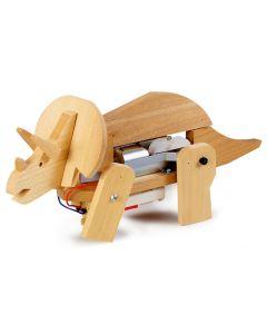 Plastbyggesett, tamiya-70088-walking-triceratops-educational-kit, TAM70088