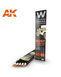 AK Interaktive, ak-interactive-10041-weathering-pencils-for-modelling-rust-and-streaking, AKI10041