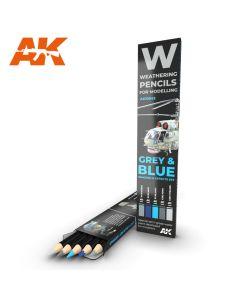 AK Interaktive, ak-interactive-10043-weathering-pencils-for-modelling-gray-and-blue-shading, AKI10043