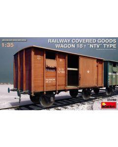 Plastbyggesett, miniart-35288-railway-covered-goods-wagon-18-tons-ntv-type-scale-1-35, MIA35288