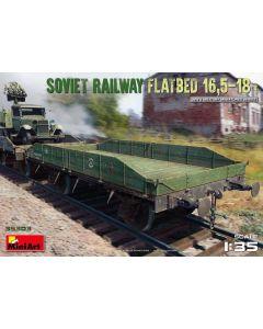 Plastbyggesett, miniart-35303-soviet-railway-flatbed-16-5-18-tons-scale-1-35, MIA35303