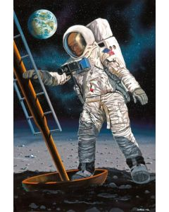 Plastbyggesett, revell-03702-apollo-11-astronaut-on-the-moon-scale-1-8, REV03702
