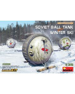 Plastbyggesett, miniart-40008-soviet-ball-tank-with-winter-ski-scale-1-35, MIA40008