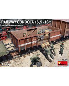 Plastbyggesett, miniart-35296-railway-gondola-16-5-18t-scale-1-35, MIA35296