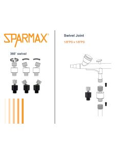 Airbrush, sparmax-43000525-swivel-joint, SPM43000525