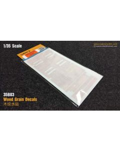 Plastbyggesett, sabre-model-35b03-wood-grain-decals-for-ssym-35a05-scale-1-35, SAB35B03