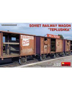 Plastbyggesett, miniart-35300-soviet-railway-wagon-teplushka-scale-1-35, MIA35300