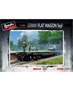 Plastbyggesett, thunder-model-35904-german-flat-wagon-ssyl-scale-1-35, THU35904