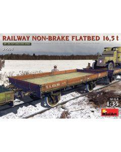 Plastbyggesett, miniart-39004-railway-non-break-flatbed-16-5-ton-scale-1-48, MIA39004