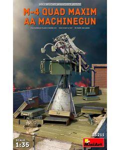 Plastbyggesett, miniart-35211-m-4-quad-maxim-aa-machinegun, MIA35211