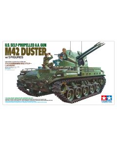 Plastbyggesett, tamiya-35161-m42-duster-with-3-figures-scale-1-35, TAM35161
