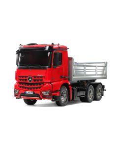 Tamiya RC Lastebil, tamiya-56361-mercedes-benz-mb-arocs-3348-6x4-tipper-truck-red-cab-silver-bed-edition-scale-1-14, TAM56361