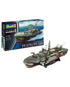 Plastbyggesett, revell-05165-patrol-torpedo-boat-pt-579-pt-588-scale-1-72, REV05165