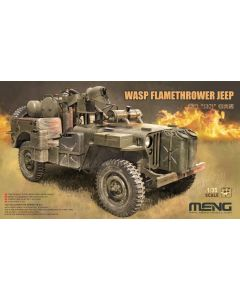 Plastbyggesett, meng-vs-012-mb-military-vehicle-wasp-flamethrower-jeep-scale-1-35, MNGVS012