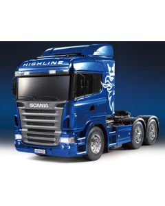 Tamiya RC Lastebil, tamiya-23674-600-scania-r620-highline-6x4-full-option-ready-made-version-blue-metallic-scale-1-14, TAM23674