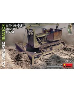 Plastbyggesett, miniart-35291-us-armored-tractor-with-angle-dozer-blade-scale-1-35, MIA35291