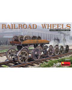 Plastbyggesett, miniart-35607-railroad-wheels-scale-1-35, MIA35607