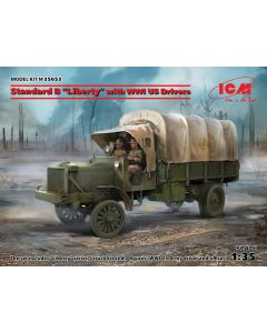 Plastbyggesett, icm-35653-standard-b-liberty-with-ww1-us-drivers-scale-1-35, ICM35653
