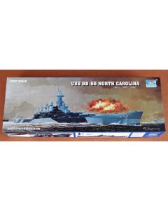 Plastbyggesett, trumpeter-05303-uss-bb-55-north-carolina-battleship-scale-1-350, TRU05303