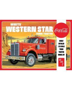Plastbyggesett, amt-1160-white-western-star-semi-tractor-coca-cola-scale-1-25, AMT1160