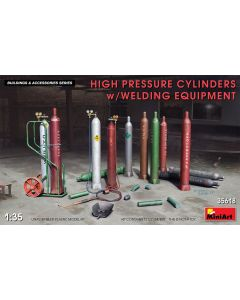 Plastbyggesett, miniart-35618-high-pressure-cylinders-with-welding-equipment-scale-1-35, MIA35618