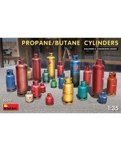 Plastbyggesett, miniart-35619-propane-butane-cylinders-scale-1-35, MIA35619