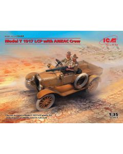 Plastbyggesett, icm-35668-model-t-1917-lcp-with-anzac-crew-scale-1-35, ICM35668