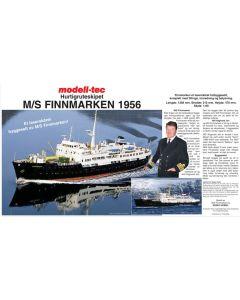 Skutemodeller, modell-tec-601-0500-hurtigruta-ms-finnmarken-trebyggesett-skala-1-60, MOT601-0500