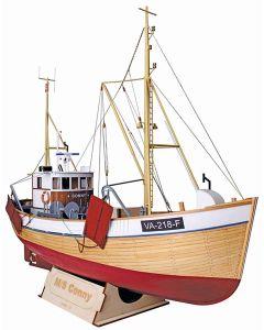 Skutemodeller, modell-tec-601-0100-ms-conny-reketraler-fiskebat-laser-cut-trebyggesett-skala-1-25, MOT601-0100