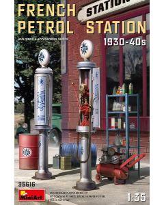 Plastbyggesett, miniart-35616-french-petrol-station-scale-1-35, MIA35616
