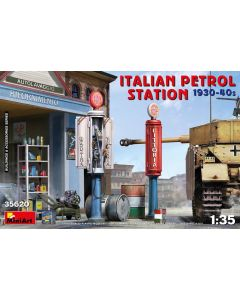 Plastbyggesett, miniart-35620-italian-petrol-station-scale-1-35, MIA35620