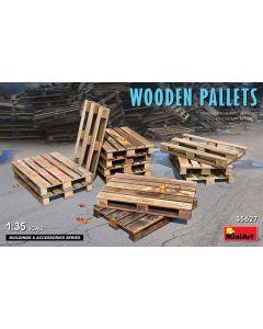 Plastbyggesett, miniart-35627-wooden-pallets-12-pcs-scale-1-35, MIA35627
